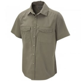 Mens Kiwi Short Sleeve Shirt Pebble