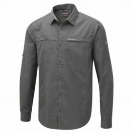 Mens Kiwi Trek Long Sleeve Shirt Ashen