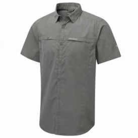 Mens Kiwi Trek Short Sleeve Shirt Ashen