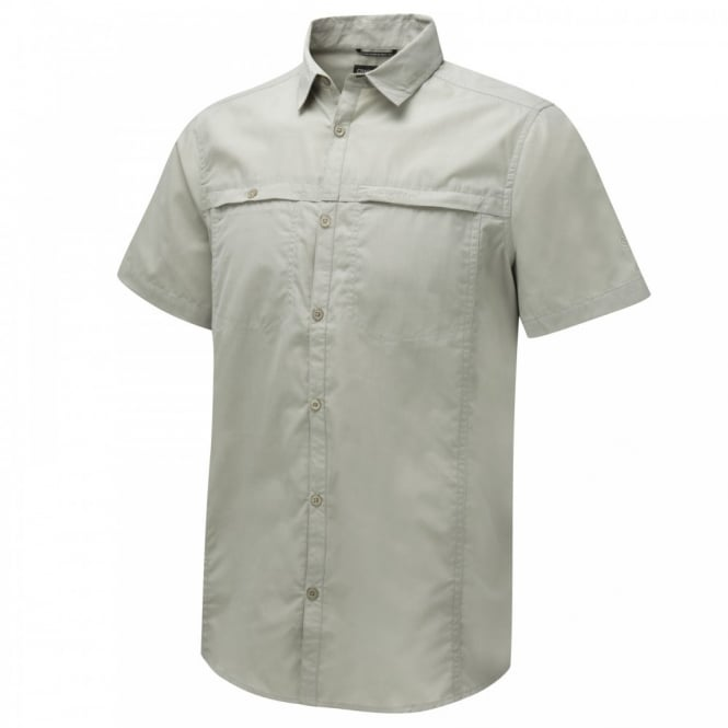 Craghoppers Mens Kiwi Trek Short Sleeve Shirt Parchment