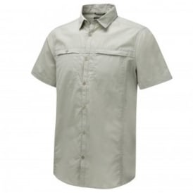 Mens Kiwi Trek Short Sleeve Shirt Parchment
