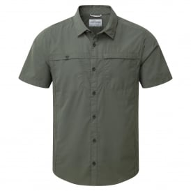 Mens Kiwi Trek Short Sleeve Shirt Parka Green