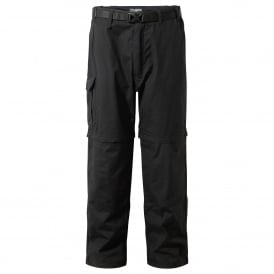 Mens Kiwi Zip Off Trousers Black