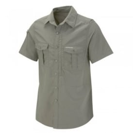 Mens Nosi Life Short Sleeve Shirt Dusky Green