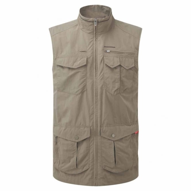 Craghoppers Mens NosiLife Adventure Gilet Pebble