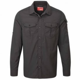 Mens Nosilife Adventure Long Sleeve Shirt Black Pepper