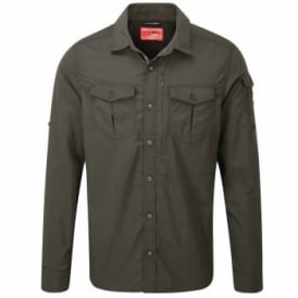 Mens Nosilife Adventure Long Sleeve Shirt Dark Khaki