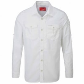 Mens Nosilife Adventure Long Sleeve Shirt Optic White