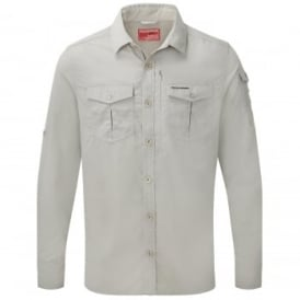 Mens Nosilife Adventure Long Sleeve Shirt Parchment