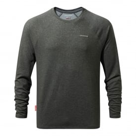 Mens NosiLife Bayame Long Sleeve Black Pepper Marl