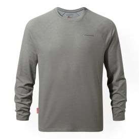 Mens NosiLife Bayame Long Sleeve Soft Grey Marl