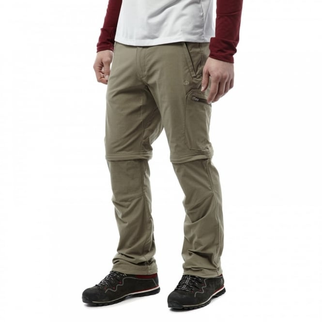 Craghoppers Mens NosiLife Pro Convert Trousers Pebble