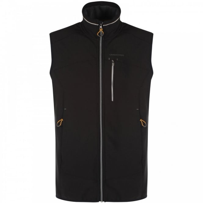 Craghoppers Mens Rudy Pro Series Softshell Vest Black