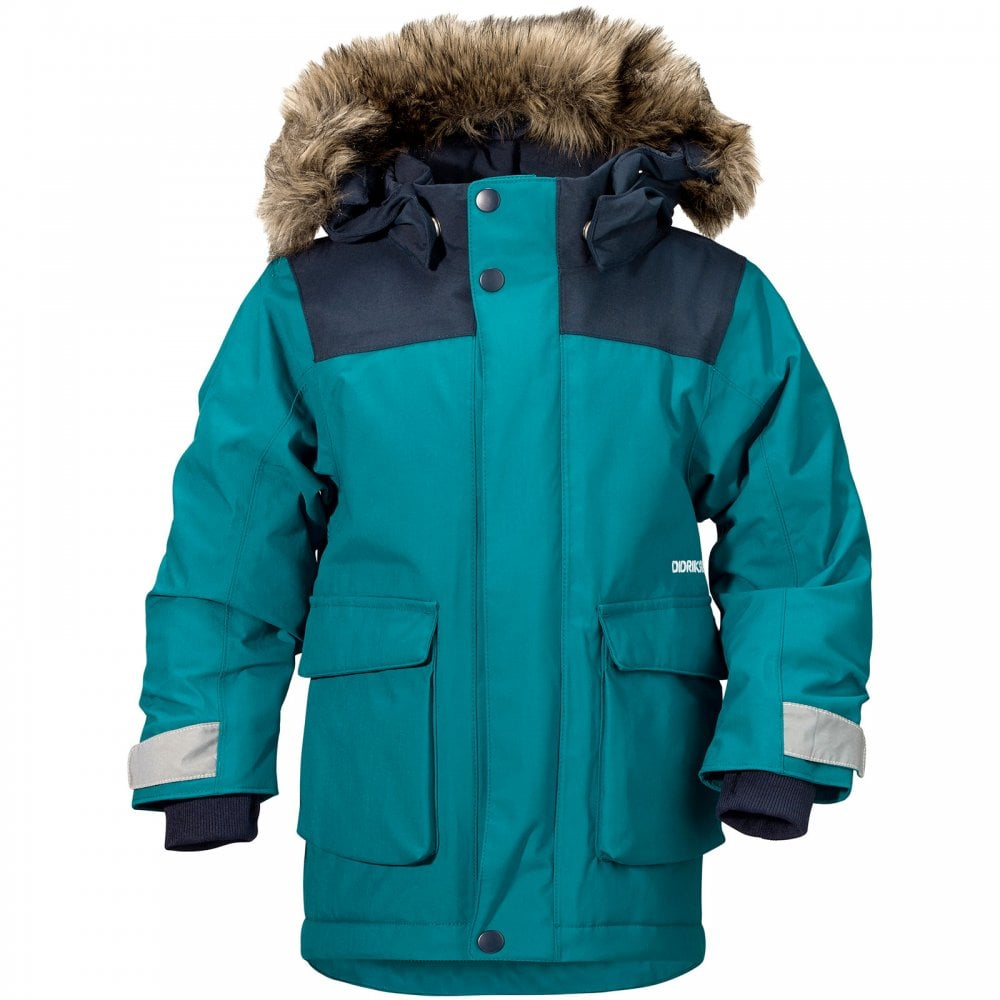 2a26700ab2 Didriksons Boys Kure Parka Glacier Blue - Kids from Great Outdoors UK