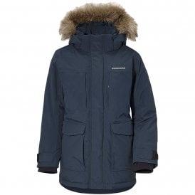 Didriksons Idde Kids Boys Girls Winter Coat JacketBright Orange