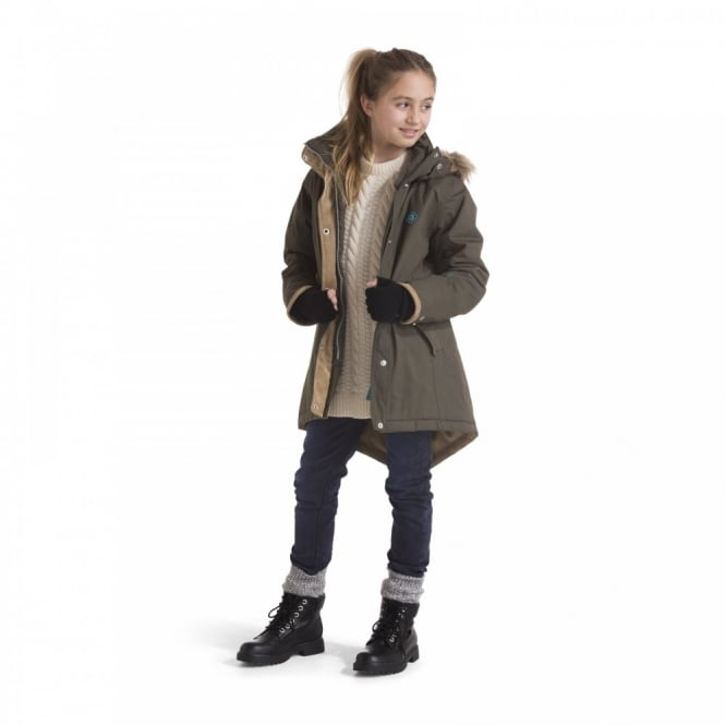 Didriksons Girls Kimberly Retro Parka Cypress Green - Kids from ...
