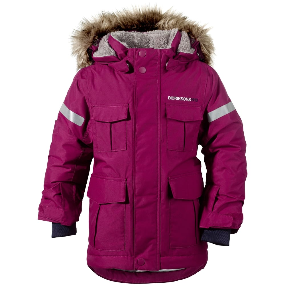 0c8dd5be6af3 Didriksons Girls Nokosi Parka Dark Lilac - Kids from Great Outdoors UK