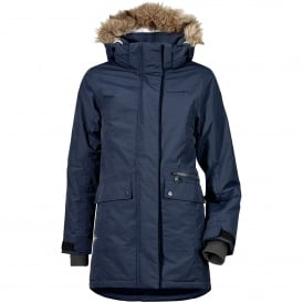 Girls Zoe Parka Navy
