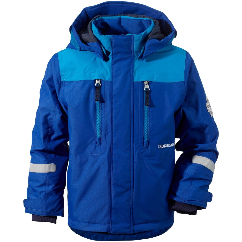 Didriksons Kids Hamres Jacket Caribbean Blue - Kids From ...