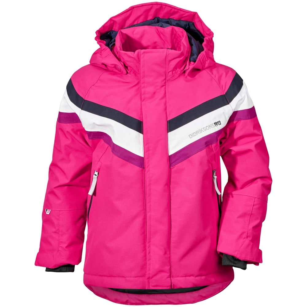 94ab41396 Didriksons Kids Safsen Jacket Fuchsia - Kids from Great Outdoors UK