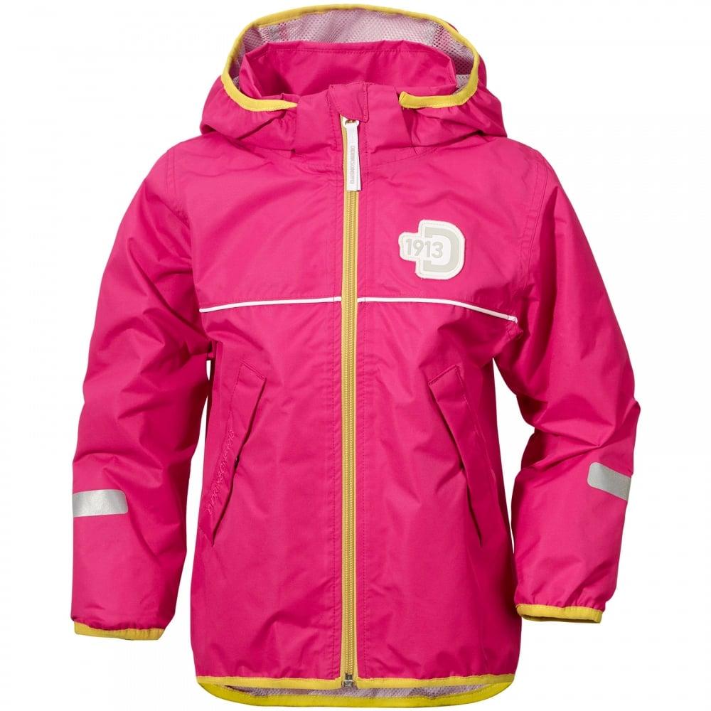 5017a204 Didriksons Kids Viskan Jacket Fuchsia - Kids from Great Outdoors UK