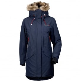 Ladies Celine Parka Navy