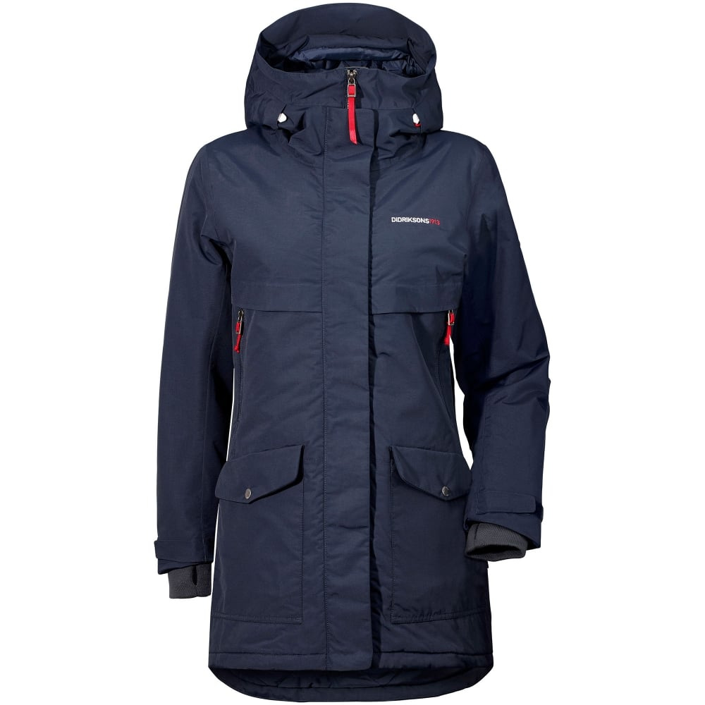 Didriksons Ladies Frida Parka Navy Ladies From Great