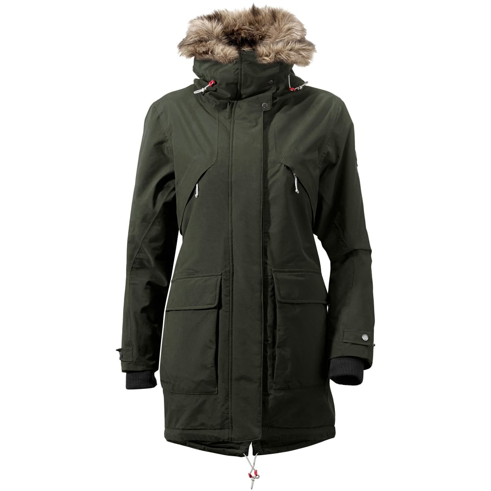 Didriksons Ladies Lina Parka Dark Green - Ladies from Great Outdoors UK ee522f74f007