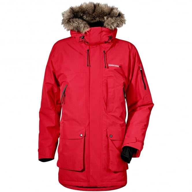 Didriksons Mens Marcel Parka Red Mens From Great Outdoors Uk