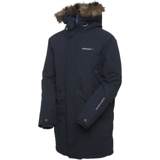 Didriksons Mens Melker Parka Midnight Blue