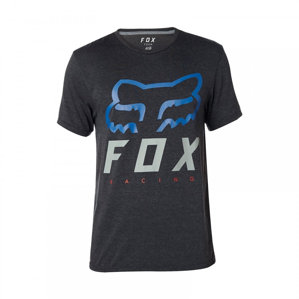 Fox Mens Heritage Forger Tech T-Shirt Heather Black - Mens from ... c5b33fcbf