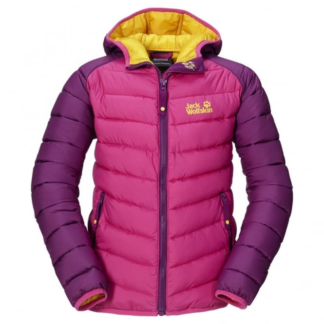 online here uk cheap sale best place Jack Wolfskin Girls Zenon Jacket Pink Passion