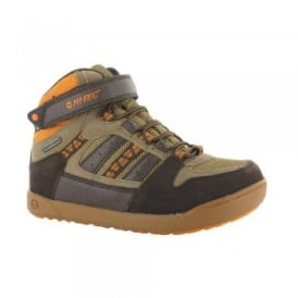 Boys Omaha WP Jnr Boot Chocolate/Clementine