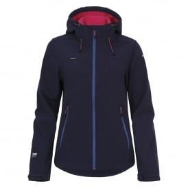 Ladies Sisko Softshell Jacket Blue/Anthracite