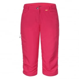 Ladies Sunila Capri Hot Pink
