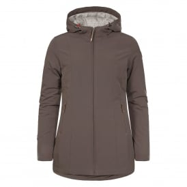 Ladies Teri Softshell Jacket Dark Khaki