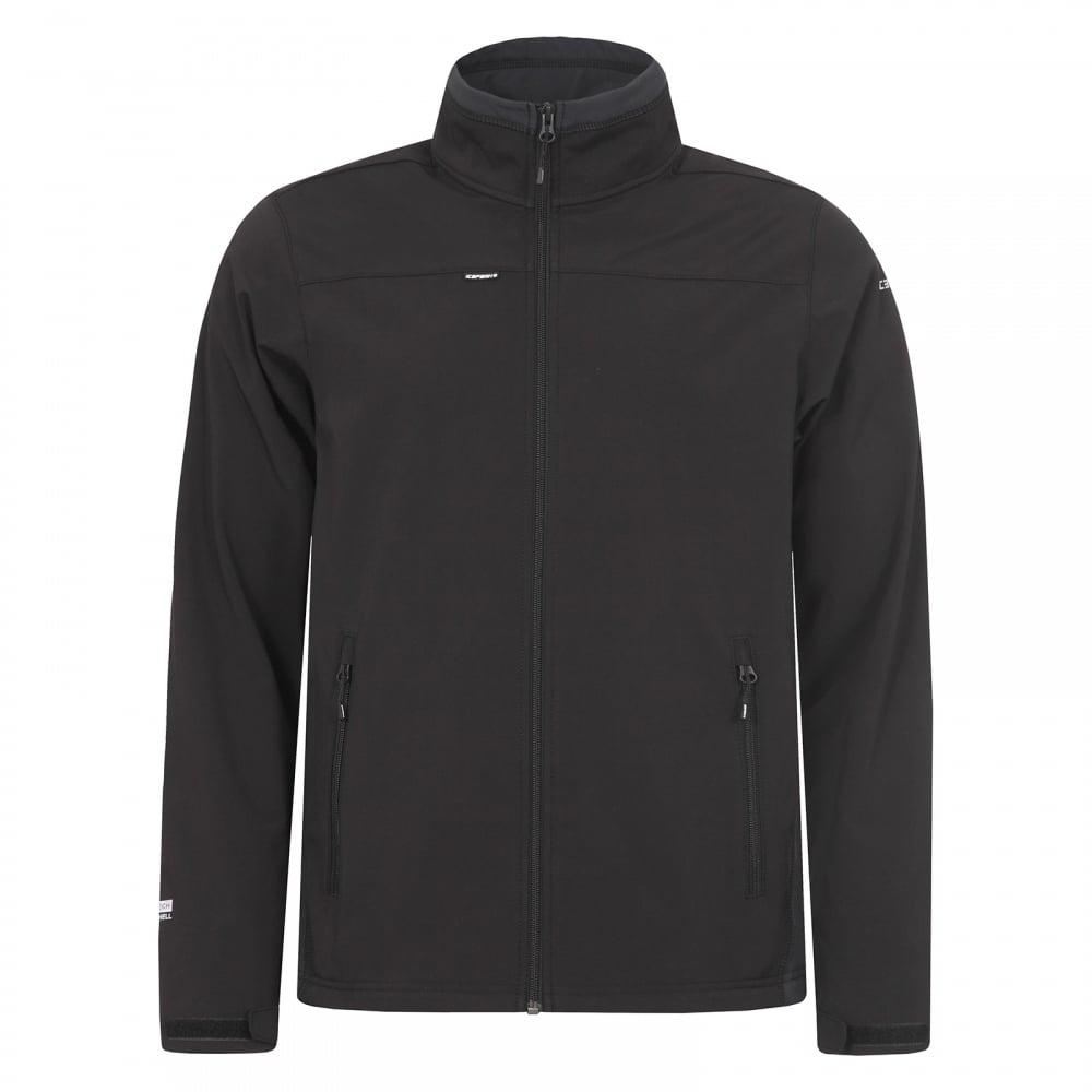 7da0213de579c Icepeak Mens Silver Softshell Jacket Black Anthracite - Mens from ...