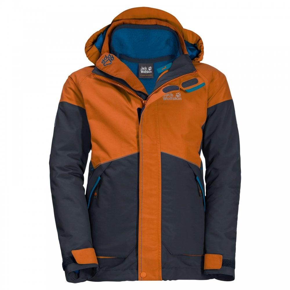 cheap for sale hot products reliable quality Boys Polar Wolf 3 in 1 Jacket Orange