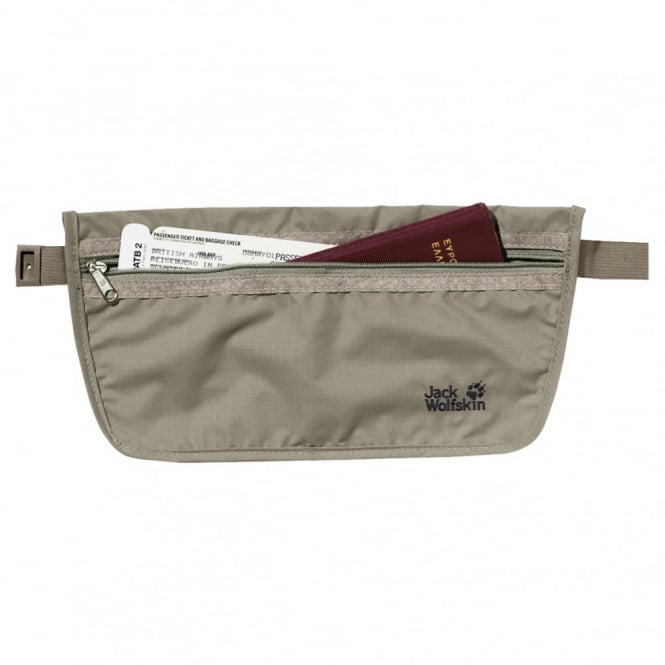 Jack Wolfskin Document Belt - Silver Mink