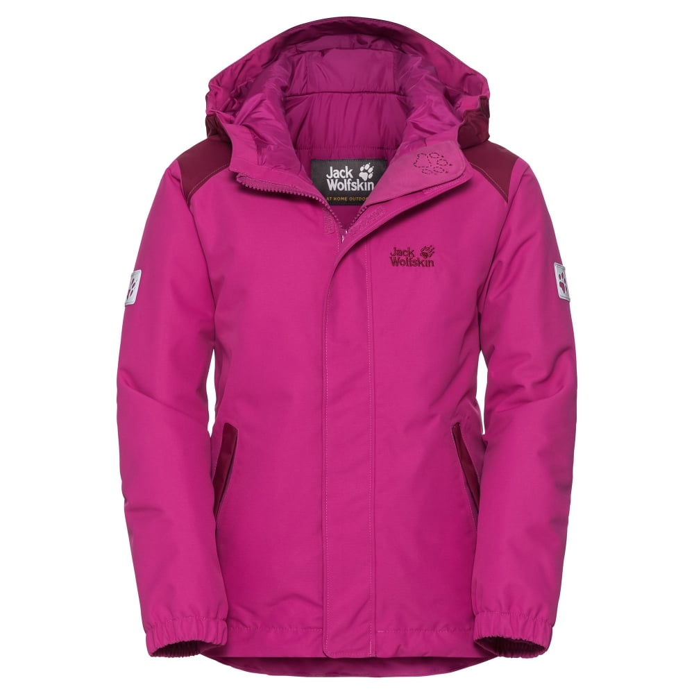 eb22aea3769 Jack Wolfskin Girls Kajak Falls Jacket Fuchsia - Kids from Great ...
