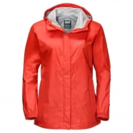 Ladies Cloudburst Jacket Lobster Red