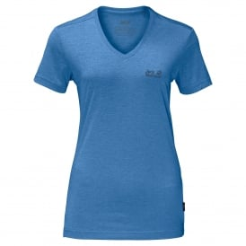 Ladies Crosstrail T-Shirt Wave Blue