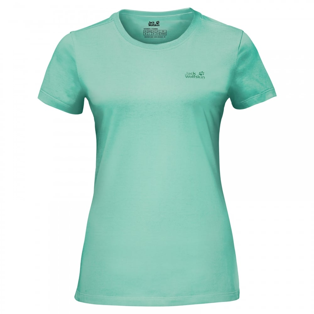 1b4f8304437 Jack Wolfskin Ladies Essential T-Shirt Pale Mint - Ladies from Great ...