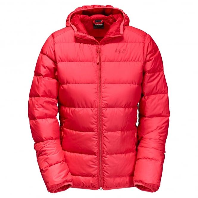 Jack Wolfskin Ladies Helium Down Jacket Hibiscus Red