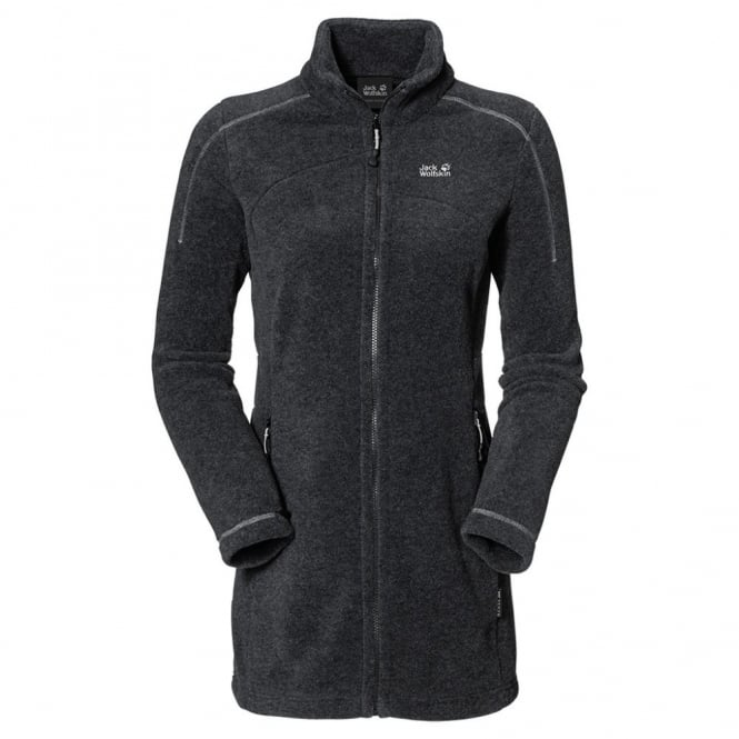 Jack Wolfskin Ladies Klondike Fleece Coat Graphite - Free UK Delivery