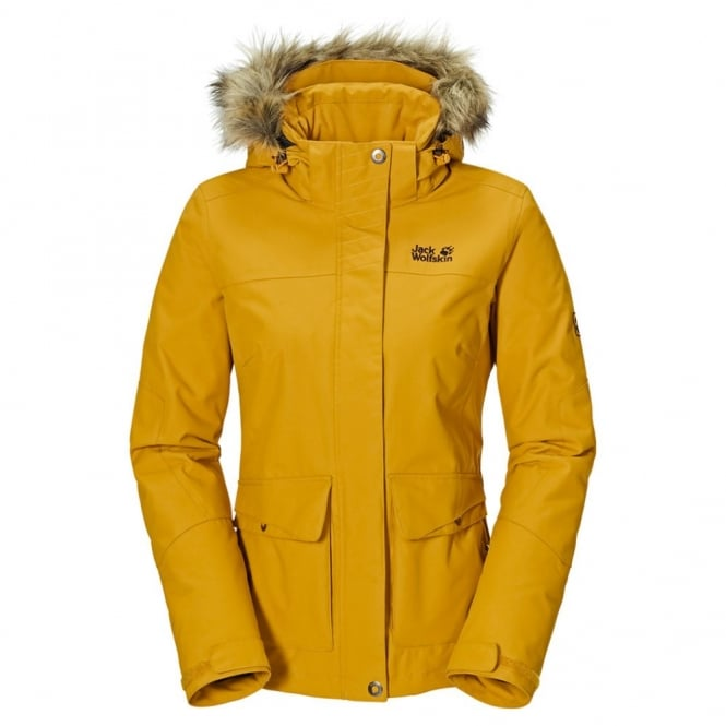 Jack Wolfskin Ladies Nova Scotia Jacket Golden Yellow - Ladies ...