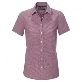 Ladies Palmerston Shirt Azalea Red Checks