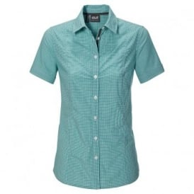 Ladies Palmerston Shirt Lake Green Checks