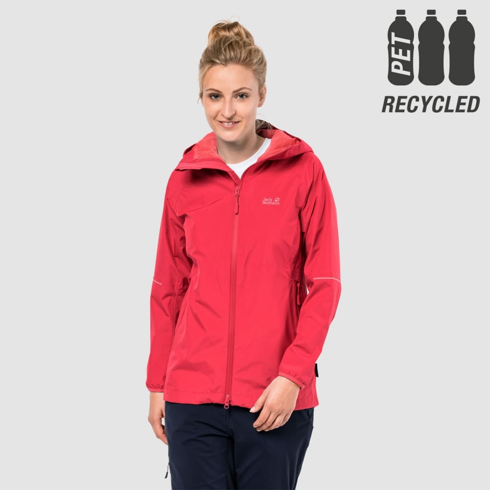 Jack Wolfskin CHILLY MORNING Outdoor jacket garnet red Hood