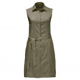 Ladies Sonora Dress Burnt Olive